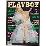 Playboy Magazine April 1997 Joey Heatherton ~ Hugh Hefner