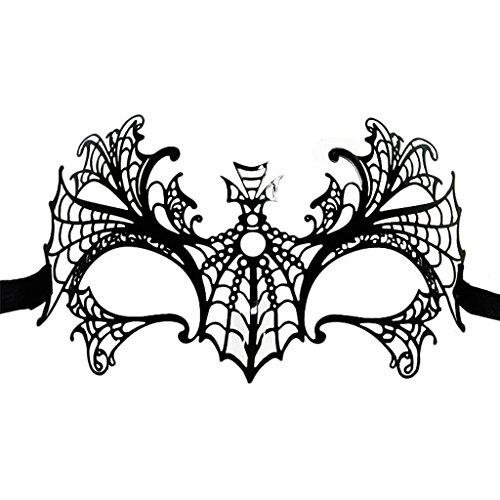 Valdler Women's Masquerade Mask Fancy Dress Laser Cut Metal Pretty for Party