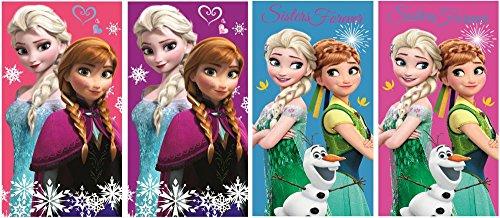 Disney Frozen Il regno di ghiaccio Set di 4asciugamani per bambini, 35x 65cm