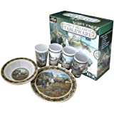 Wild Wings 12-Piece Melamine Tableware Set Featuring Moose