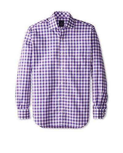 TailorByrd Men's Check Long Sleeve Shirt
