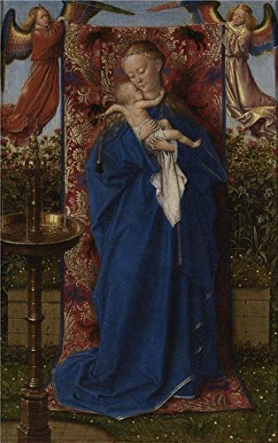 'Jan Van Eyck - Madonna At The Fountain, 1439' Oil Painting, 10x16 Inch / 25x41 Cm ,printed On High Quality Polyster Canvas ,this Vivid Art Decorative Prints On Canvas Is Perfectly Suitalbe For Bathroom Decor And Home Gallery Art And Gifts
