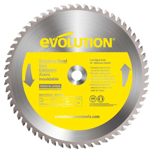 Evolution Power Tools 14BLADESS Stainless Steel Cutting Saw Blade, 14-Inch x 90-Tooth (Stainless Steel Cutting Tools compare prices)