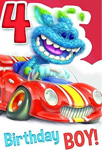 Murray Monster Alter 4Geburtstagskarte