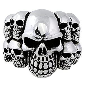 Ninth Circle of Hell Skull Ring Sterling Silver