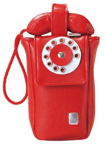 モバイルケース (公衆電話ダイヤル型) レッド SF-2002-RD