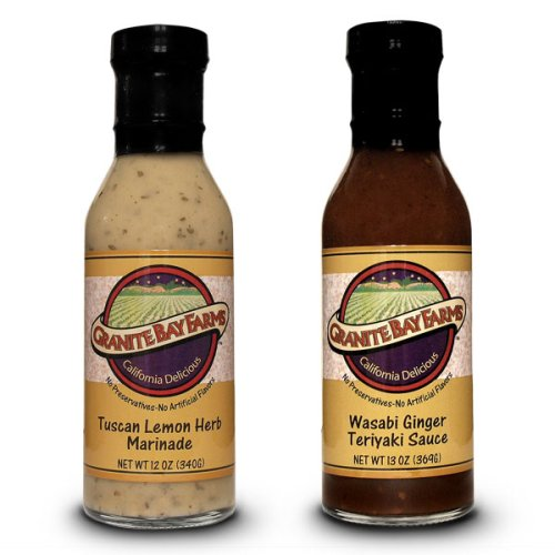Granite Bay Farms Marinades and Sauces (select any 2 Bottle), 34-Ounce Total Gift Box