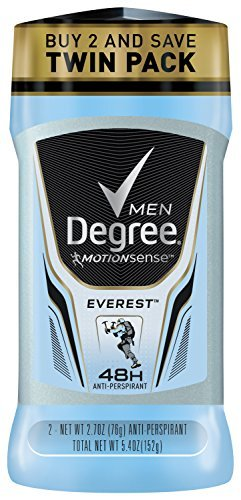 Degree Men Adrenaline Series Antiperspirant & Deodorant Everest 2.7 oz each (4 Twin Packs)