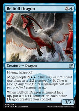 Magic: the Gathering - Belltoll Dragon (046/264) - Dragons of Tarkir (Mtg Blue Dragons compare prices)