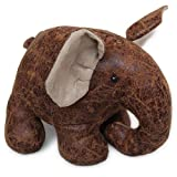 Homescapes Door Stop Novelty Elephant Door Stopper Animal Faux Leather