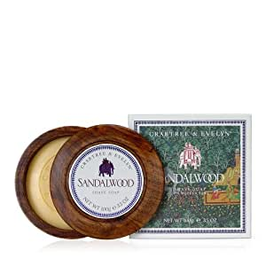 Crabtree & Evelyn Sandalwood Shave Soap in Wooden Bowl 100g