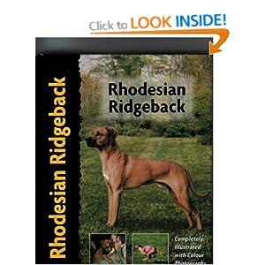 Rhodesian Ridgeback (Pet Love) Ann Chamberlain