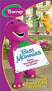 Amazon.com: Barney - Best Manners (Invitation To Fun) [VHS]: Barney
