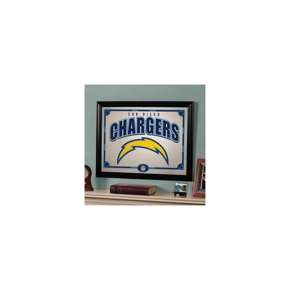 22 NFL San Diego Chargers Football Logo Framed Mirror