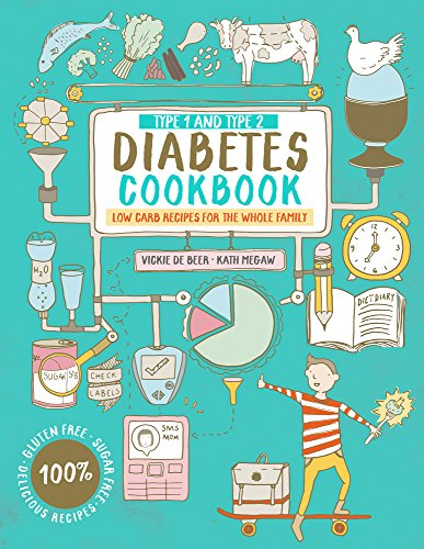 Type 1 and Type 2 Diabetes Cookbook: Low Carb Recipes for the Whole Family by Vickie De Beer, Kath Megaw