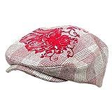 Flower Checkered Ivy Hat-Pink