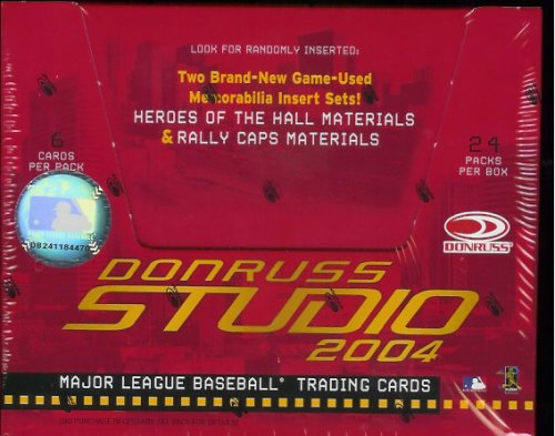 2004 Donruss Studio Baseball HOBBY Box – 24P6C