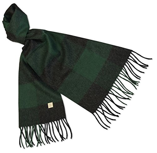 alpacafab-100-baby-alpaca-scarf-midol-checkered-unisex-71-x-12-in-green