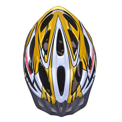 Mens/Womens Mountain Bike Cycle Helmet - Yellow, Size 58-65cm from Skyrocket