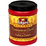 Folgers Flavors Cinnamon Swirl Ground Coffee, 11.5-Ounce Tubs (Pack of 6)