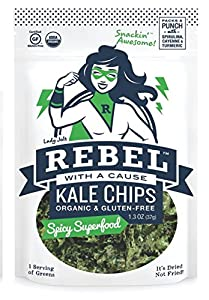Rebel with a Cause Spicy Superfood Kale Chips - 1.3 oz