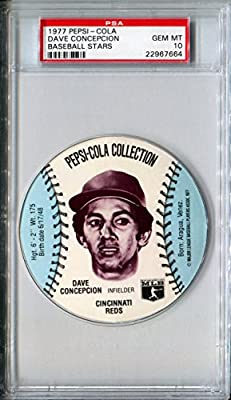 1977 MSA Pepsi Cola Glove Sports Discs DAVE CONCEPCION Rare PSA Gem Mint 10 SP Cincinnati Reds