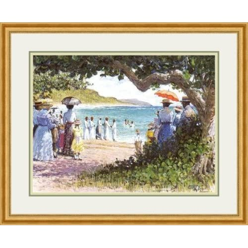 """Amazon.com: """"Baptism"""" by Leo Carty - Framed Artwork: Lithographic"""