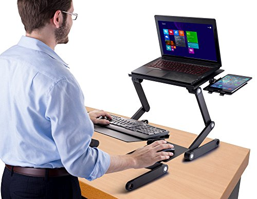 Big Save! Standing Desk Adjustable Sit Stand Desk for Laptops & Desktops (BLACK)