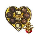 Chocholik Belgium Gifts - Heartfelt Chocolates With Lovely Box With Ganesha Idol - Diwali Gifts