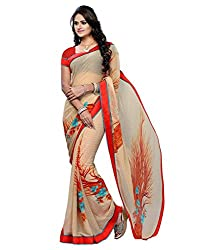 My online Shoppy Chiffon Saree (My online Shoppy_74_Brown)