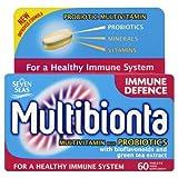 Seven Seas Multibionta Immune Support Multi Vitamin Mineral Probiotic Bioflavonoids & Green Tea Extract 60 Tablets