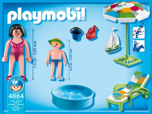 Playmobil 4864 paddling pool at shop ireland for Piscine playmobil