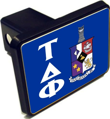 Tau Delta Phi Crest Trailer Hitch Covers
