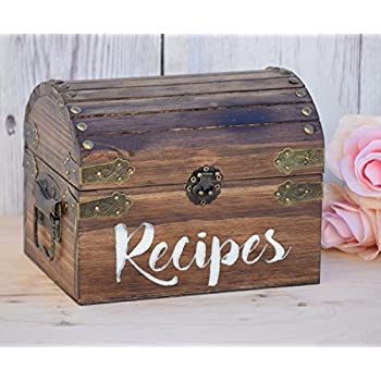 Personalized Recipe Card Box - Personalized Gift - Rustic Home Decor - Recipe Holder - Recipe Box - Recipe Card Box
