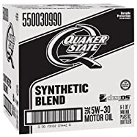 Quaker State 550030990-6PK-6PK Synthetic Blend 5W-30 Lubricant Motor Oil - 1 quart, (Pack of 6) from Quaker State