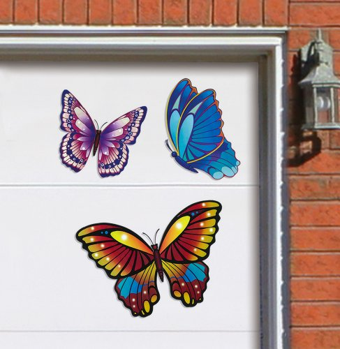 Images for Butterfly Decorative Garage Door Magnets By Collections Etc