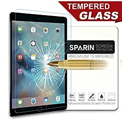 iPad Pro Screen Protector [Multi-Touch Compatible], SPARIN® [.3mm / 2.5D Round Edge] [Tempered Glass] [Bubble-Free] Screen Protector for iPad Pro 12.9 Inch
