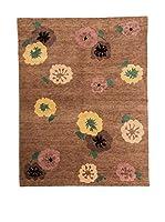 CarpeTrade Alfombra Soft Silk Nepal (Marrón/Multicolor)