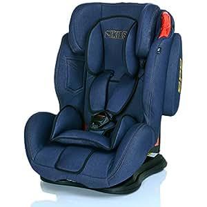 Siège Auto SATURN 9-36 kg Groupe 1 2 3 SPS systeme protection latérale - ECE R44/04 - Blue Jeans