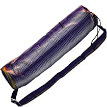 Printed Yoga Mat Bag - 100% Silk - Purple Royal