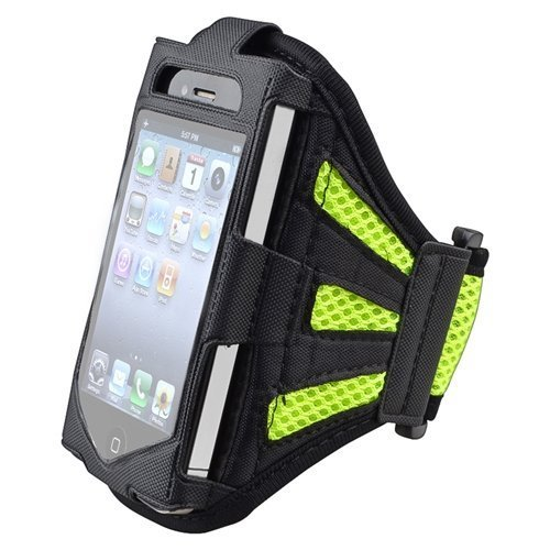 Easefit Neoprene Sports Gym Running Arm Armband Sweat-Proof Waterproof Case Cover Protect For Iphone 3Gs,Iphone 4S, Iphone 4,Iphone 4G, Iphone 5, Iphone 5S,Ipod Touch 4G,Ipod Touch 5Th Generation +Screen Cleaning Cloth (X-Green)