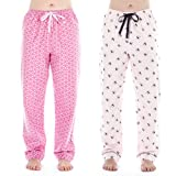 Noble Mount Womens Cotton Flannel Lounge Pants (2 Pack)