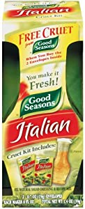 Good Seasons Italian Dressing Mix, 2 Packages with Cruet, 1.4 Oz. Net