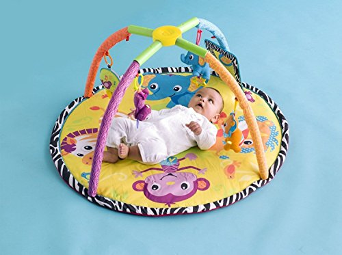 Lovely Kids Infantino Baby Nuetral Jungle Animals Twist Fold Activity Gym Play Mat New