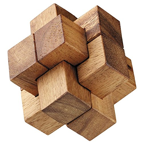 BRAIN GAMES Burr Wooden Puzzle (3 Inches) (Pice Rack compare prices)