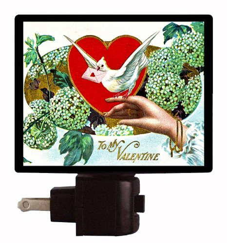 Valentines Day Night Light - To My Valentine - Vintage