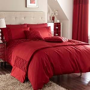 Catherine lansfield biancheria da letto rosso rot casa e cucina - Biancheria da letto amazon ...