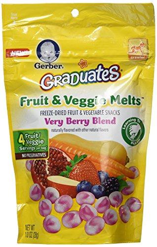 Gerber Graduates Fruit & Veggie Melts - Very Berry Blend, 1-Ounce (Pack of 4) - 1