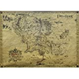 Lord Of The Rings (Parchment Map) Parchment Map