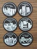 Welsh Slate Castles of Wales 6pc Coaster Set
